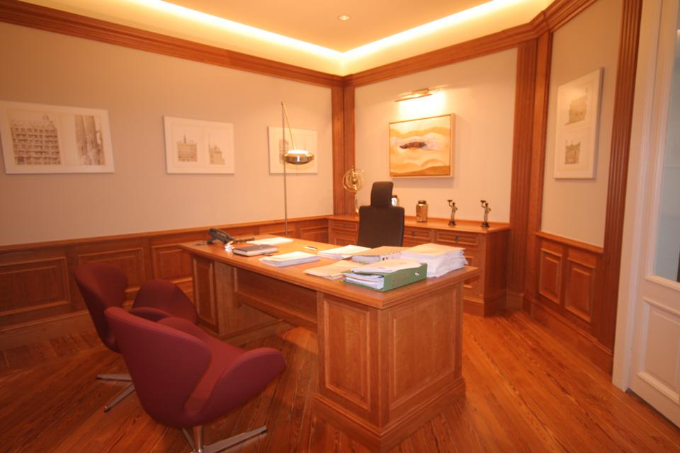 Asesoría Vizcaya, detalle del mobiliario del despacho