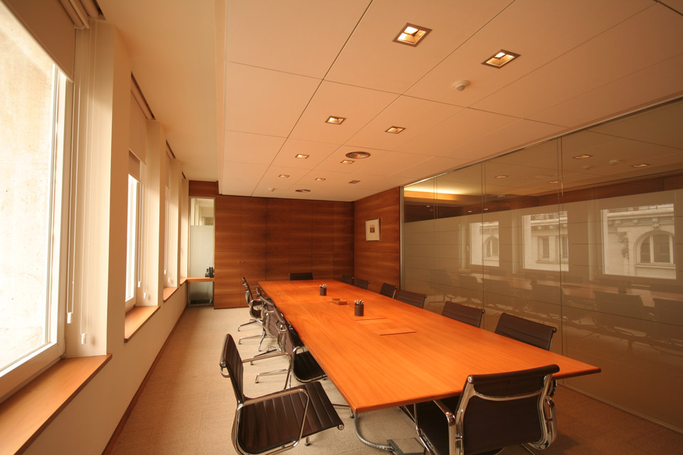 Sala de reuniones Abogados Garrigues