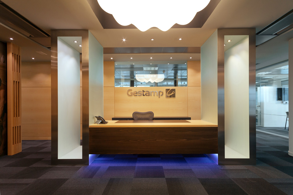 Gestamp offices reception area