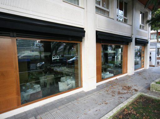 Interiores Restaurante Piu Di Sua. Bilbao