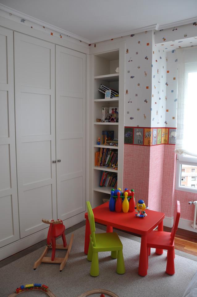 Armairua bilboko etxebizitza: Frontal del armario infantil