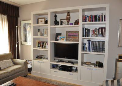 Bookshelf for home in Bilbao. Bizkaia