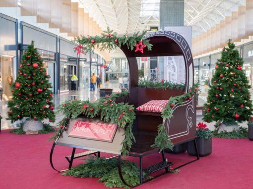 Christmas sleigh. MegaPark Barakaldo.