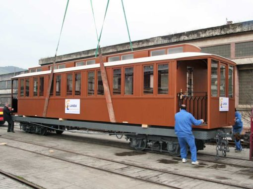 Passenger car C-7 of the Bidasoa railway.