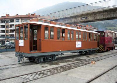 Coche C-7 para el Museo Vasco del Ferrocarril